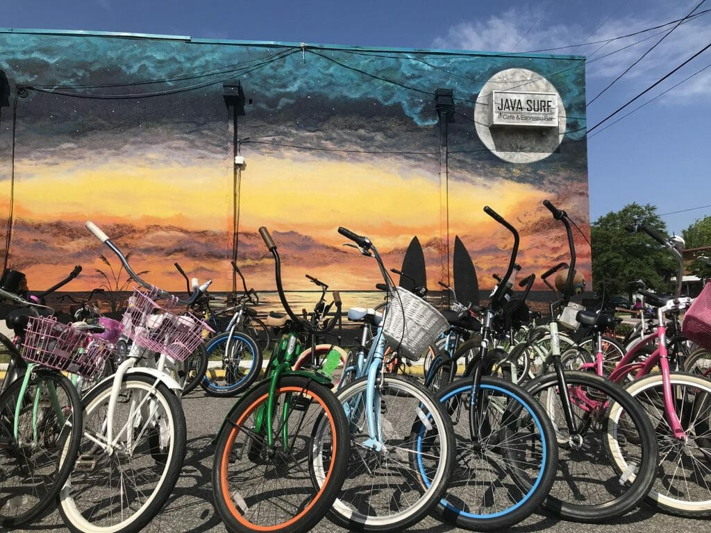 bikes brunch coffee virginia beach