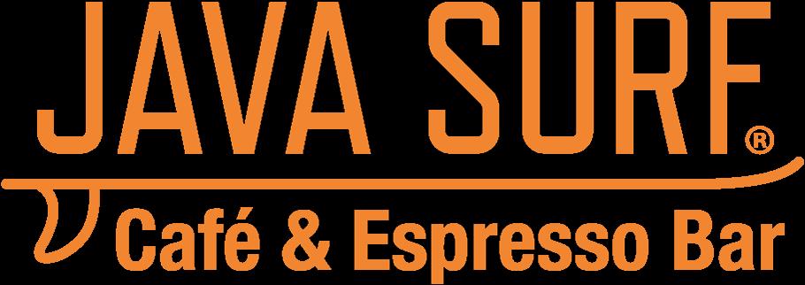 java surf cafe logo orange