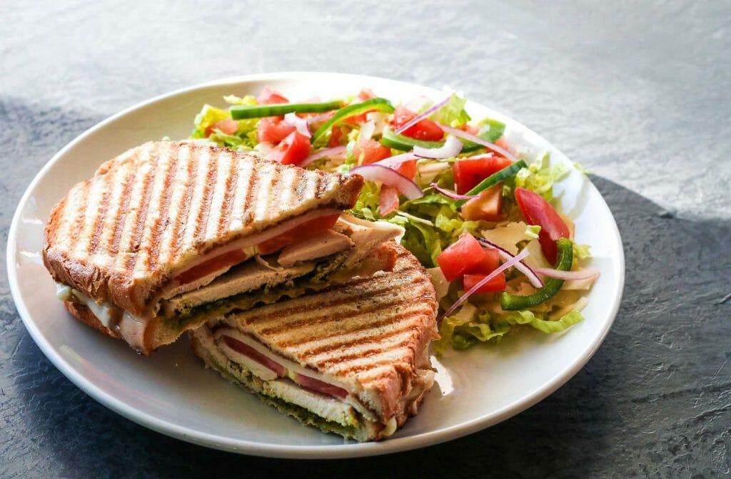 chicken pesto panini sandwich cafe