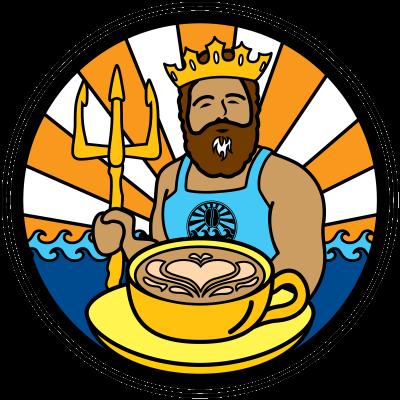 java surf king Neptune latte
